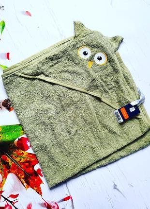 Махровое полотенце с капюшоном-конвертом lupilu