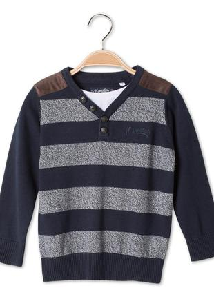 Хлопковый пуловер с обманкой c&a