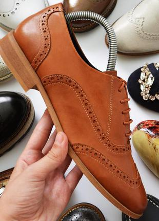 Фирменные кожаные туфли/оксфорды woman seaside