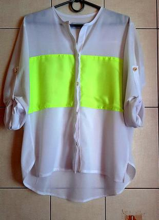 Белоснежная шифоновая рубашка mosquito