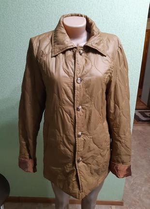 Стеганая прошитая куртка пиджак