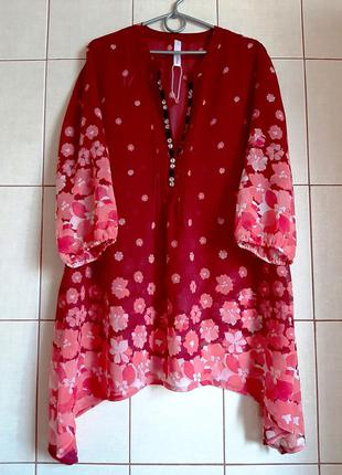 Новая шифоновая пляжная блузка-туника от sheego