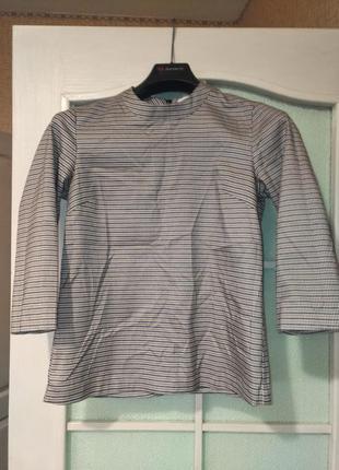 Гольф водолазка из костюмной ткани гусиная лапка