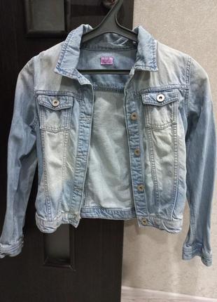 Джинсовый пиджак f&f
