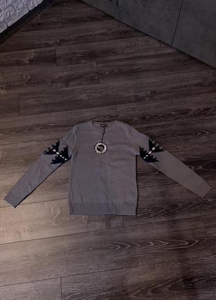 Свитер/ детский свитер/ свитер для мальчика/ мужской свитер/ тёплый свитер/ серый свитер