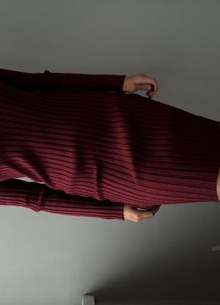 Платье в рубчик с люрексом