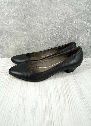 """Брендовые черные кожаные туфли лодочки """"roberto santi """". размер uk 6/eur 39"""