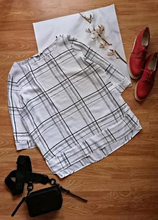 Женская свободная легкая белая брендовая блуза next - размер 52-56