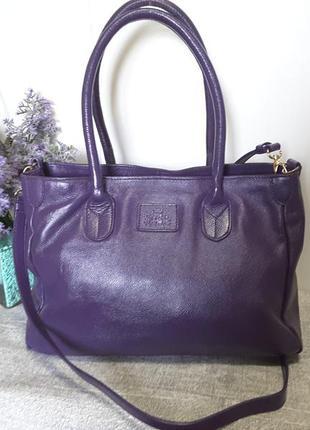 Классная деловая сумка из натуральной кожи