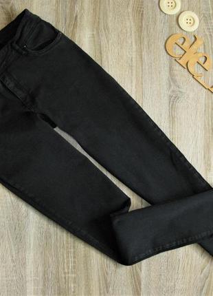 Стрейчевые черные джинсы eur 42