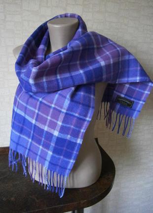 Красивый, яркий клетчатый шарф из шерсти. james pringle weavers