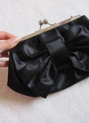8f40698be1d7 Классический черный клатч с бантом new look (маленькая сумочка) New ...
