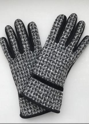Комбинированные трикотажные перчатки