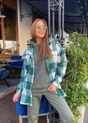 Женский повседневный костюм тройка рубашка штаны кофта