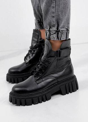 Ботинки из натуральной черной кожи❄❄❄