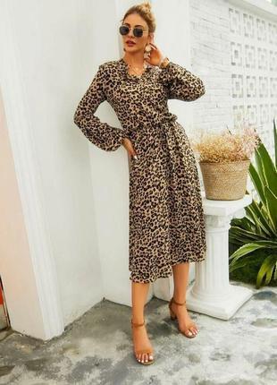 Шикарное платье леопардовый принт