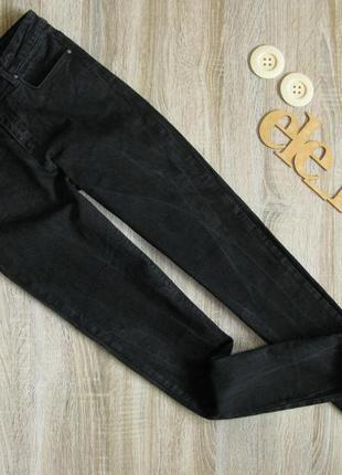 Стрейчевые черные джинсы eur 36-38