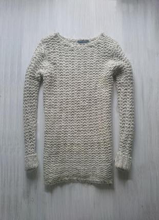 Длинный вязаный свитер туника