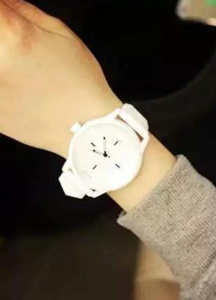Часы женские shshd силиконовый ремешок
