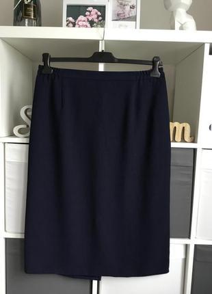Базовая синяя юбка карандаш размер xl