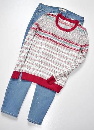 Sale m&s классный не свитерок с принтом
