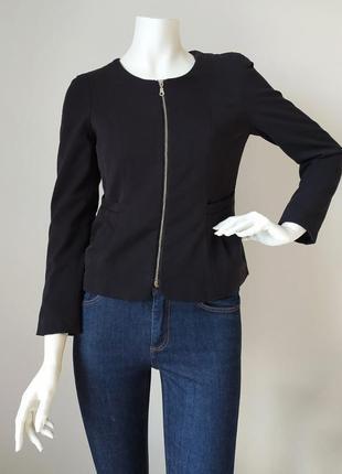 Укороченный пиджак с карманами на молнии h&m