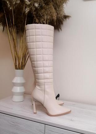 Стильные ботфорды ботинки сапоги деми