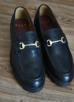 Кожаные лоферы туфли walk london /шкіряні лофери