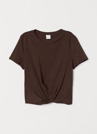 Хлопковая укороченная футболка
