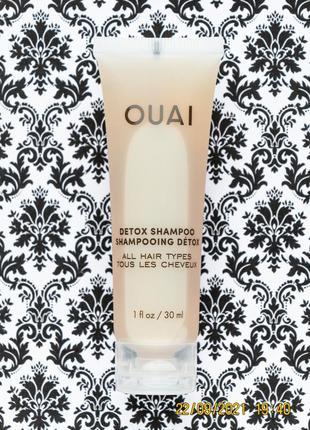 Детокс шампунь ouai dexot shampoo all hair types для всех типов волос 30 мл