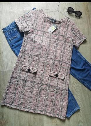 Платье в стиле шанель, платье с накладными карманами, сукня, плаття