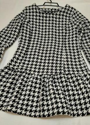 Платье туника гусиные лапки zara next atmosphere amisu new look