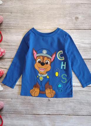 Реглан футболка с длинными рукавами лонгслив nickelodeon щенячий патруль на мальчика 3-4 года