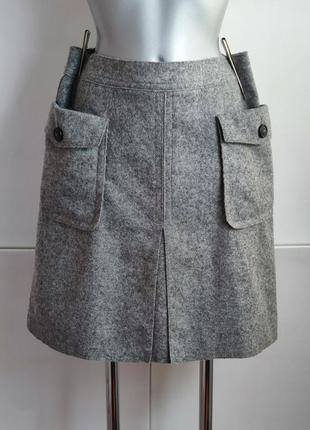 Шерстяная юбка  marc o'polo с накладными карманами