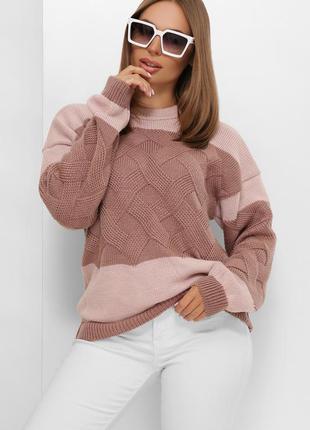 Хит! новинка! вязаный женский свитер до 54 размера