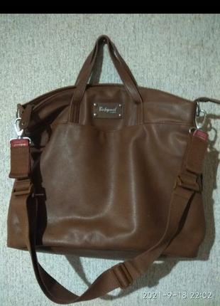 Стильная крутая женская сумка с короткой и длинной ручкой