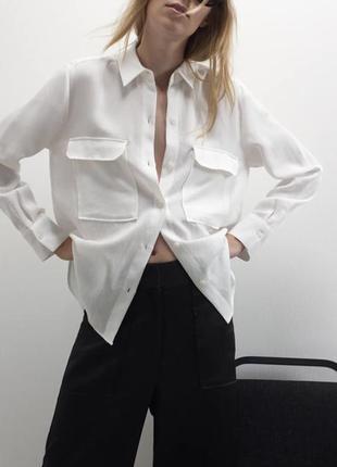 Базовая стильная рубашка zara s