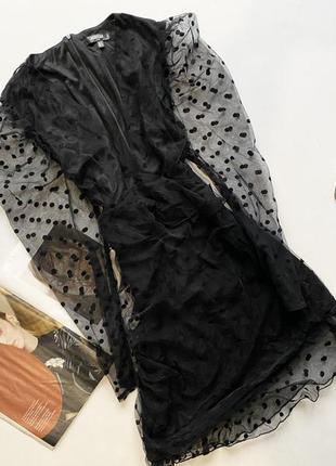 Шикарное платье шифон в горох  20 4хл
