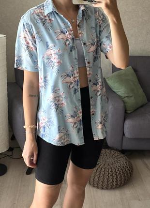 Рубашка с фламинго marks&spencer