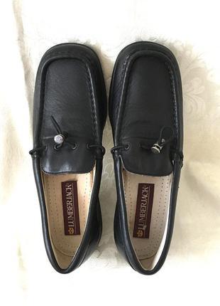 Кожаные мягкие добротные туфли кожа мокасины