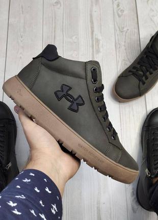 Зимние мужские ботинки хаки
