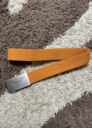 Тканевый оранжевый ремень giorgio armani