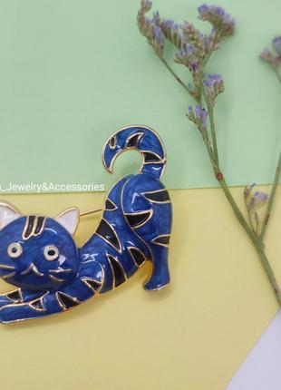 Красива брошка у вигляді домашнього улюбленьця. кіт