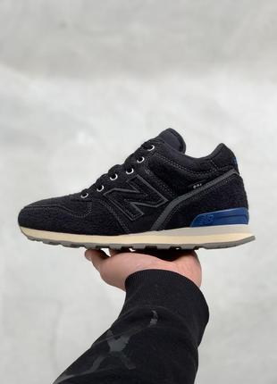 Высокие кроссовки new balance 996 black / vintage blue