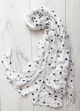 Шарф, хустка, шарф в горошек, весенний шарфик, легкий шарфик.