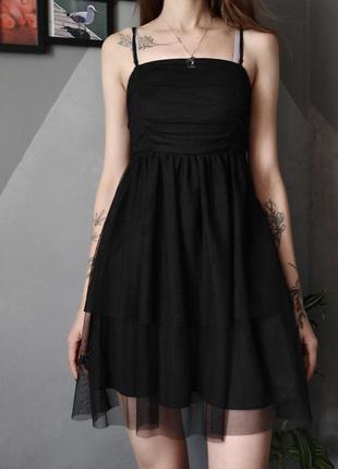 Коктейльное платье сеточка фатиновое на худышку even&odd