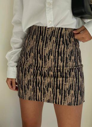 Вельветовая юбка с подкладкой шортики 🌈3 цвета