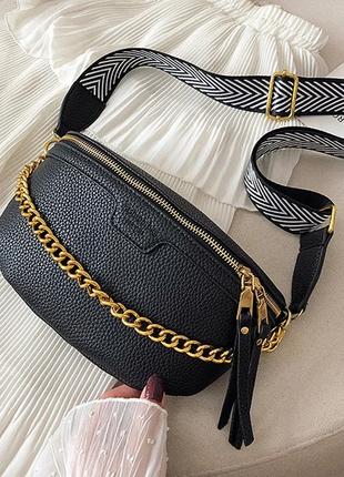 Женская кожаная черная сумка/женский клатч/черная сумочка/сумка-клатч