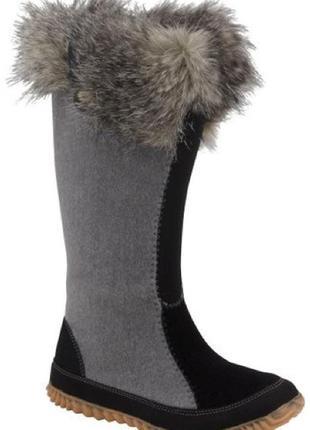Женские сапоги или на подростка  из  волйлока sorel cozy cate tall warm winter boots