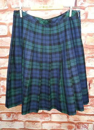 Юбка шотландка шерстяная винтажная